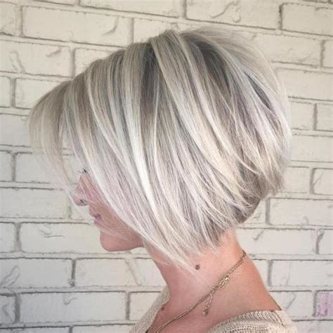 blonde full fringed inverted bobs the full stack 30 hottest stacked haircuts