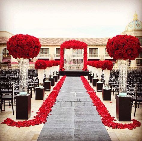 red black and white ceremony birthday decor in 2019