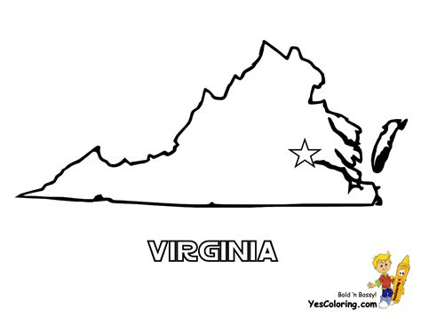 virginia state colors mighty map coloring pages tennessee wyoming free