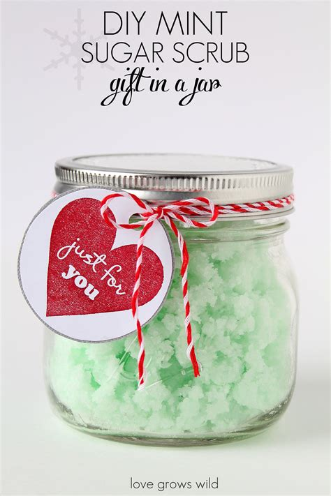 homemade mint sugar scrub in a mason jar a perfect gift