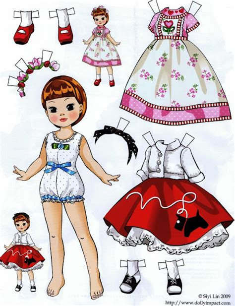 How To Fold And Cut Paper Dolls - paper dolls by siyi folding tabs bloglovin