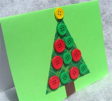 manualidades de navidad tarjeta navide 241 a de 193 rbol con botones