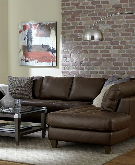 milano leather sectional sectionals at macy s decoration news
