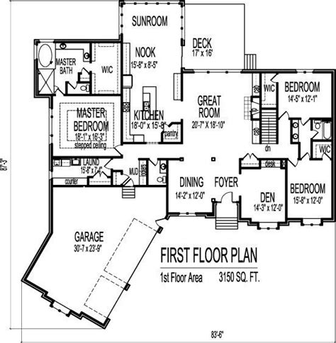ranch floor plans with 3 car garage house plans ranch 3 car garage luxury ranch home plans