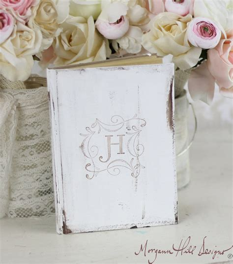 morgann hill designs bridal shower rustic guest book shabby chic wedding decor personalized