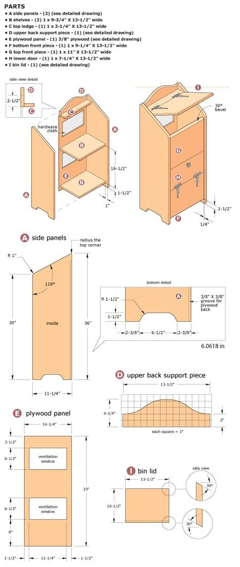 Wood Vegetable Bin Plans Woodworking Projects Plans