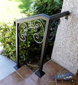 Wrought Iron Handrails For Exterior Stairs 1000 Ideas About Iron Stair Railing On