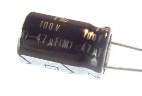 capacitor 47uf 100v bipolar aluminum electrolytic 47uf 100v radial nightfire electronics llc