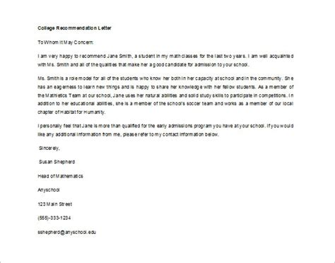 Recommendation Letter For Hrm Student letter recommendation student letter of recommendation