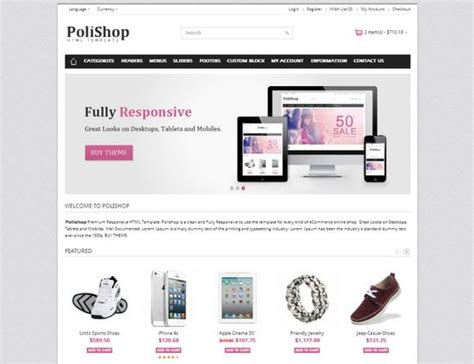 ecommerce html templates 33 free and premium html css ecommerce website templates