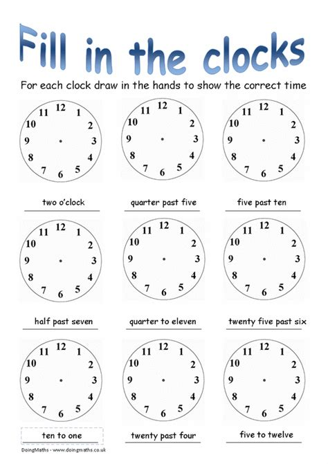 Time To The Hour Worksheets by Free Worksheets Time Worksheets Oclock Time Worksheets