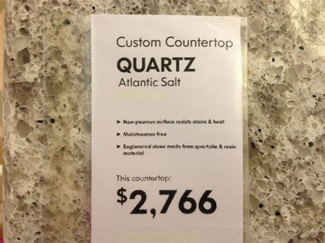 What Is The Price Of Quartz Countertops by Atlantic Salt Quartz Countertop Kitchen Ideas