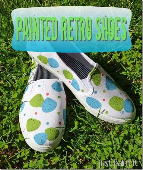 painted shoes diy retro style painted shoe diy