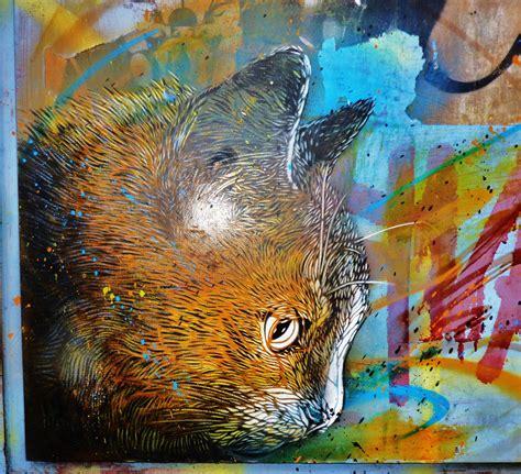 cs stencil cat work street art graffiti art tag art