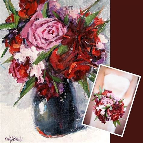 Wedding Bouquet Painting by 7 Best Wedding Bouquet Paintings Images On