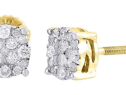 bling jewelry mens gold plated bezel set cut cz stud