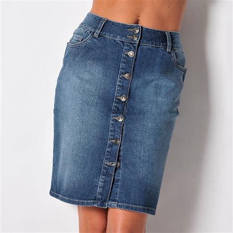 Jupe Jeanz jupe jean boutonn 233 e blancheporte