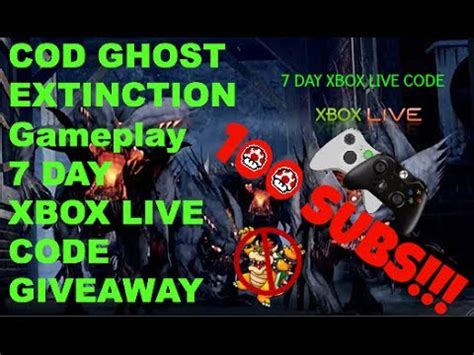 xbox 7 day trial free cod ghost extinction gameplay 7 day xbox live trial giveaway