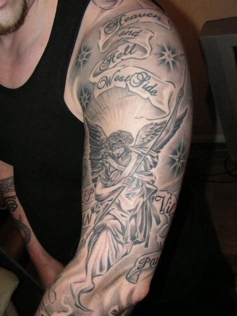 mens shaded tattoo designs black and grey sleeve with shading