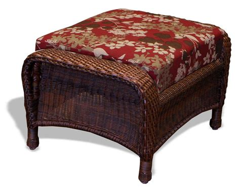 Cushion Ottoman Tortuga Outdoor Wicker Cushion Ottoman O1