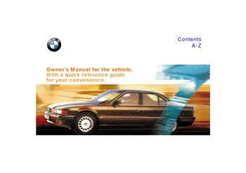 where to buy car manuals 1999 bmw 7 series parking system download 1999 bmw 7 series owner s manual pdf 211 pages