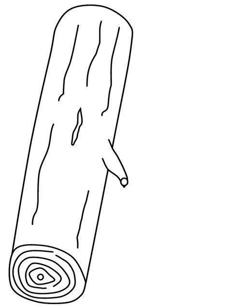 printable trees log coloring pages coloringpagebook com
