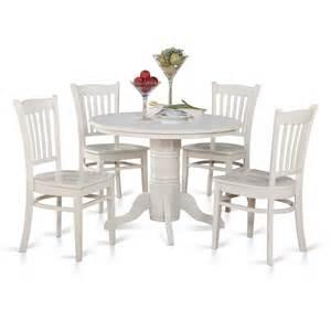 42 inch round kitchen table set w 4 chairs in white efurniture mart