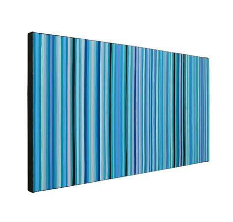 Shades Of Green Blue And Green Shades Modern Stripes Painting