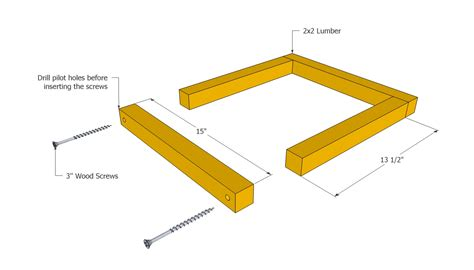 woodwork how to build wood box frame pdf plans