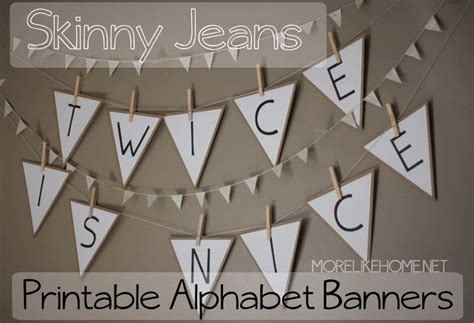 Free Printable Fonts For Banners | more like home free printable alphabet banners party