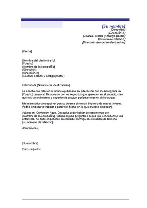 Modelo De Carta De Presentacion Con Curriculum Vitae Modelo Carta De Presentacion Quiero Encontrar Trabajo