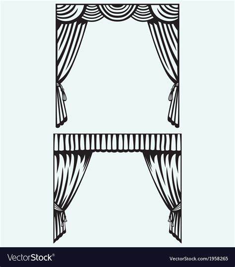 silhouette curtains silhouette curtain royalty free vector image vectorstock