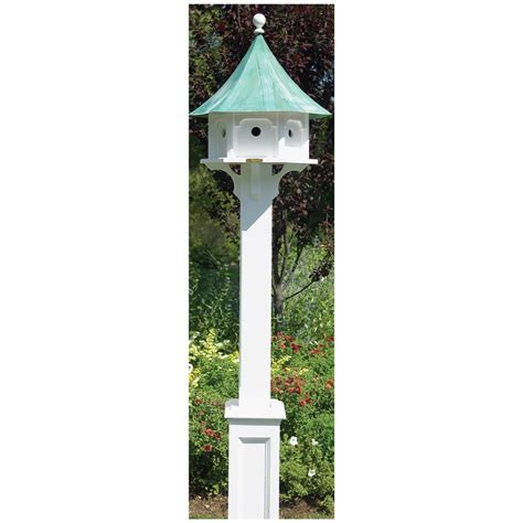good directions hammersley white vinyl bird house post
