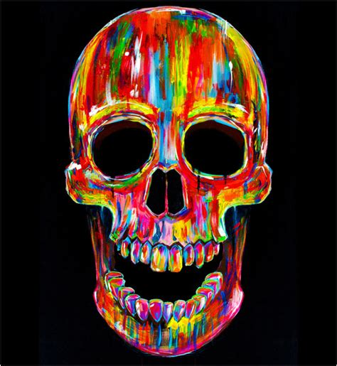 colorful skull colorful skull painting www imgkid the image kid
