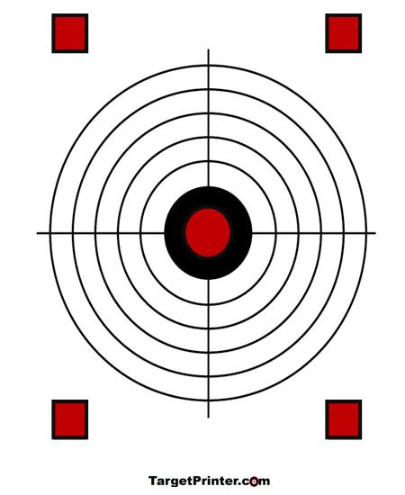 printable targets for handguns printable crosshair with squaes shooting target