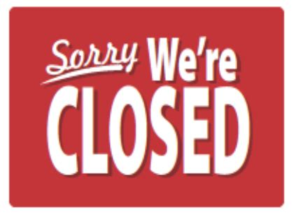 business closed sign template 5 best images of printable closed signs business