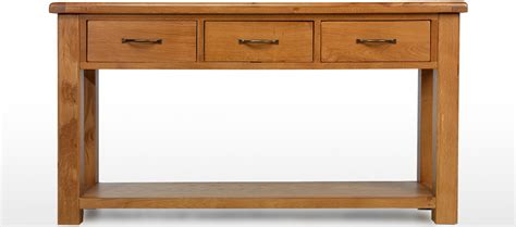 Large Console Table Barham Oak Large Console Table Quercus Living