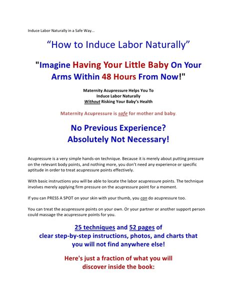 induce labor naturally