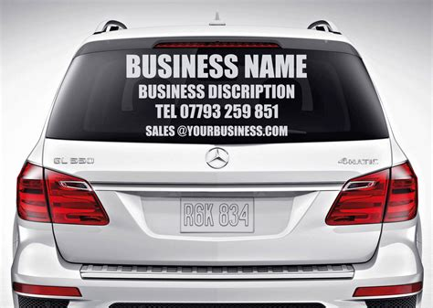 Auto Decals For Business by Custom Car Rear Window Business Advertising Vinyl Sticker