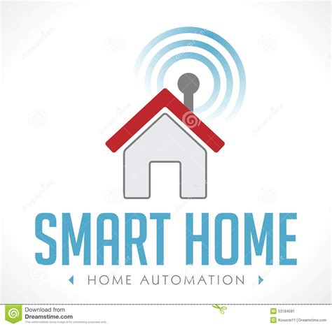 logo home automation stock vector image 53184581