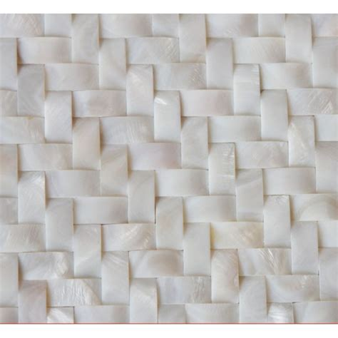 Herringbone Kitchen Backsplash White Shell Wall Tiles Arched Mother Of Pearl Tile