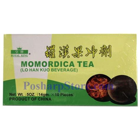 Teh Lo Han Kuo royal king momordica tea lo han kuo beverage 10 pcs