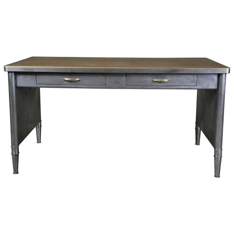 1950 Metal Tanker Desk At 1stdibs Metal Desk