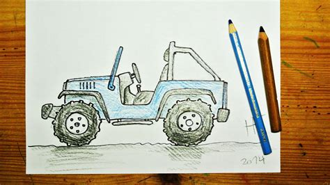 how to draw a jeep wrangler