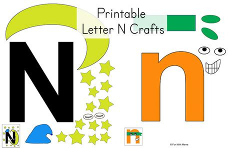 N Is For by Letter N Worksheets With