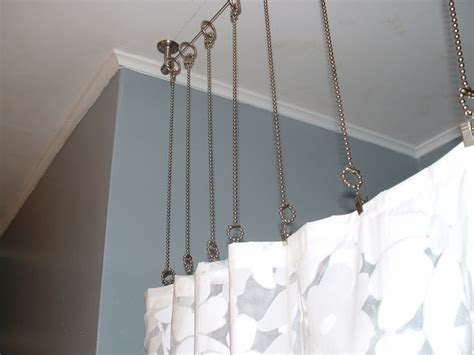 attach curtain rod to ceiling pin by heather coale on for the home pinterest