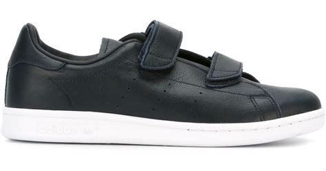 adidas originals hyke velcro sneakers leather rubber 9 5 in black for lyst