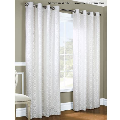 gray and white curtain grey black and white curtains pair of damask 3 tone