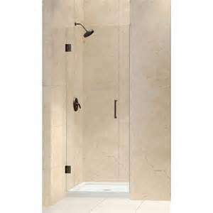 hinged frameless shower doors dreamline wayfair