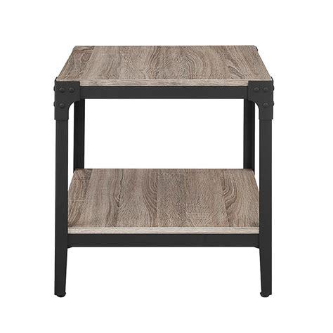 walker edison furniture company angle iron driftwood end